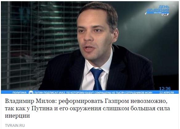 Милов Газпром