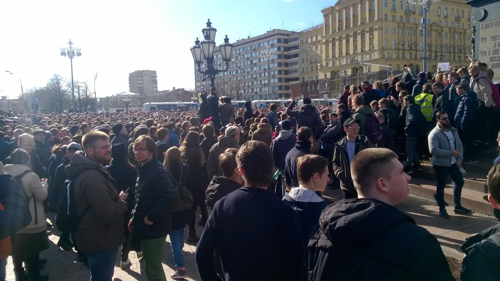 Пушкинская площадь 26 марта